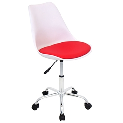 Palm Springs Modern White + Red Office Chair