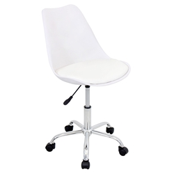 Palm Springs Modern White Office Chair