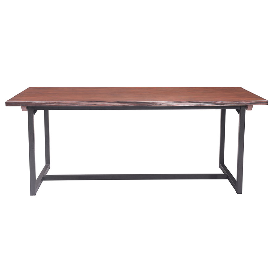 Palo Alto Modern Live Edge Dining Table - Side View
