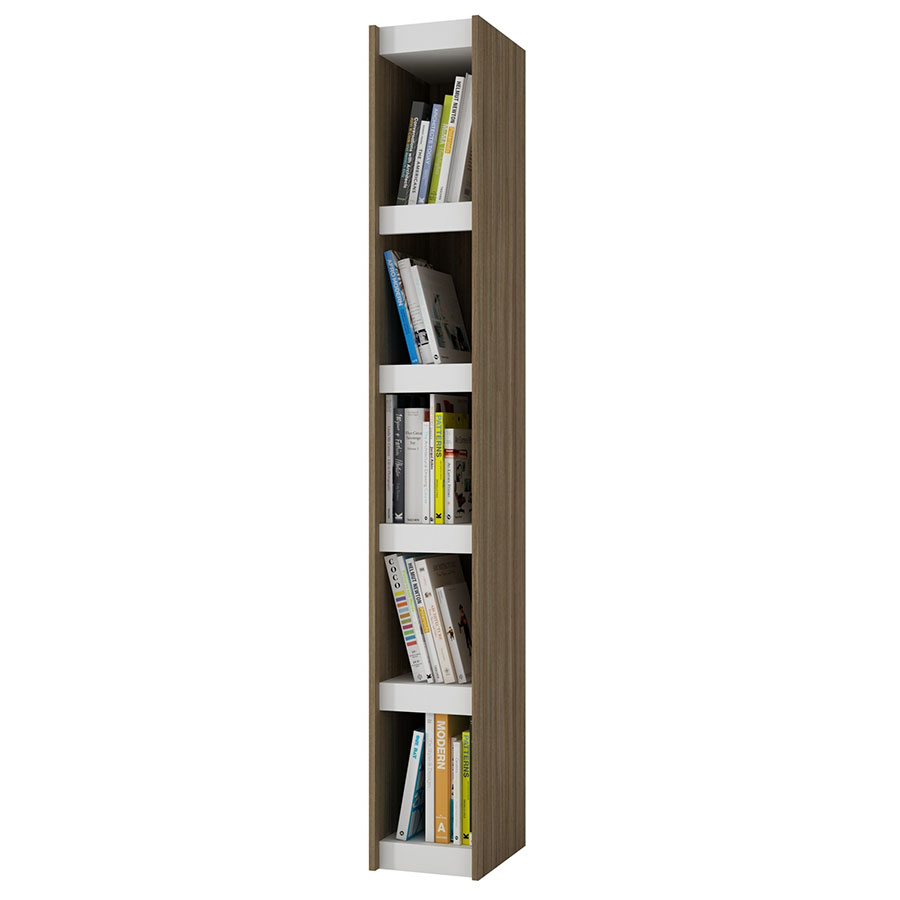 Panama 10 Inch Contemporary Oak Book Shelf