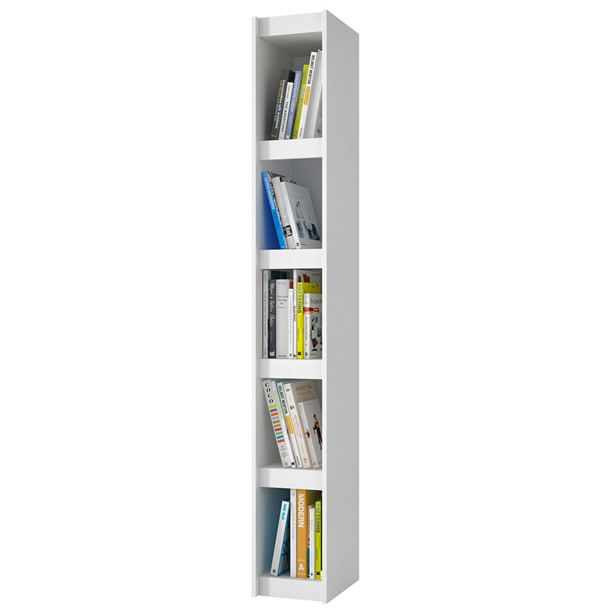 Panama 10 Inch Contemporary White Book Shelf
