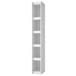 Panama 10 Inch Modern White Book Shelf