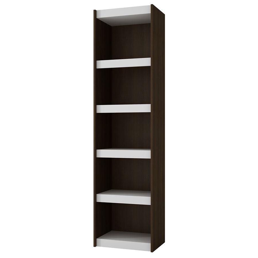 Panama 19 Inch Modern Tobacco Book Shelf