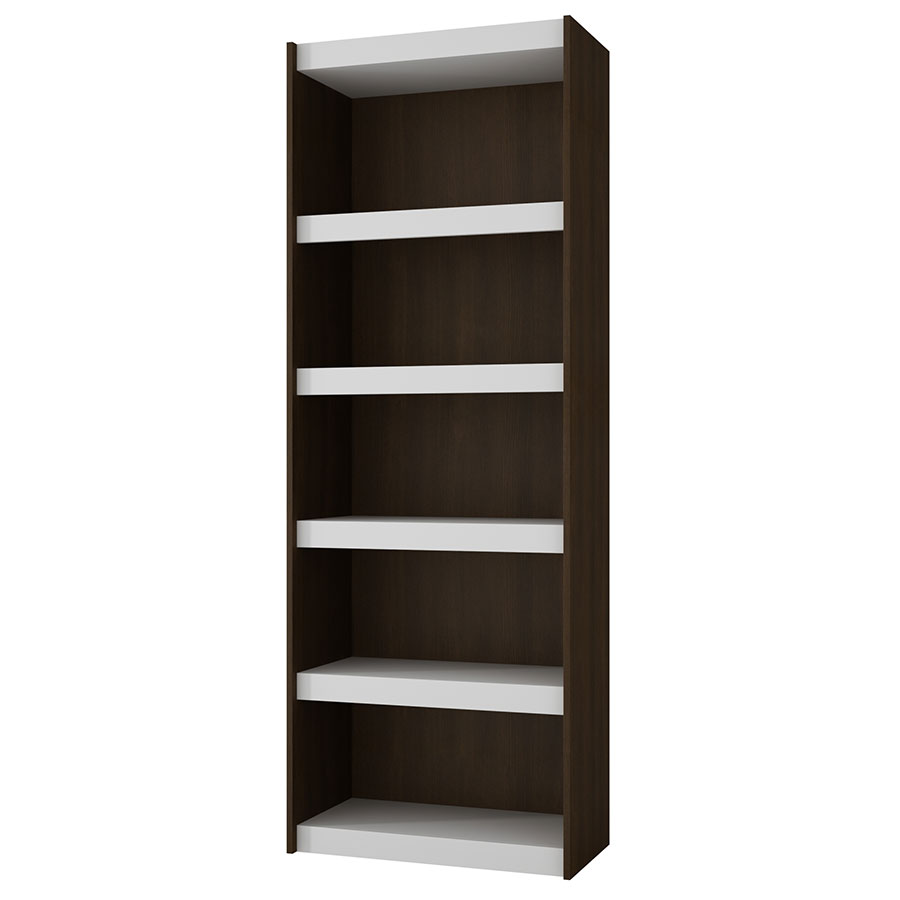 Panama 28 Inch Modern Tobacco Book Shelf