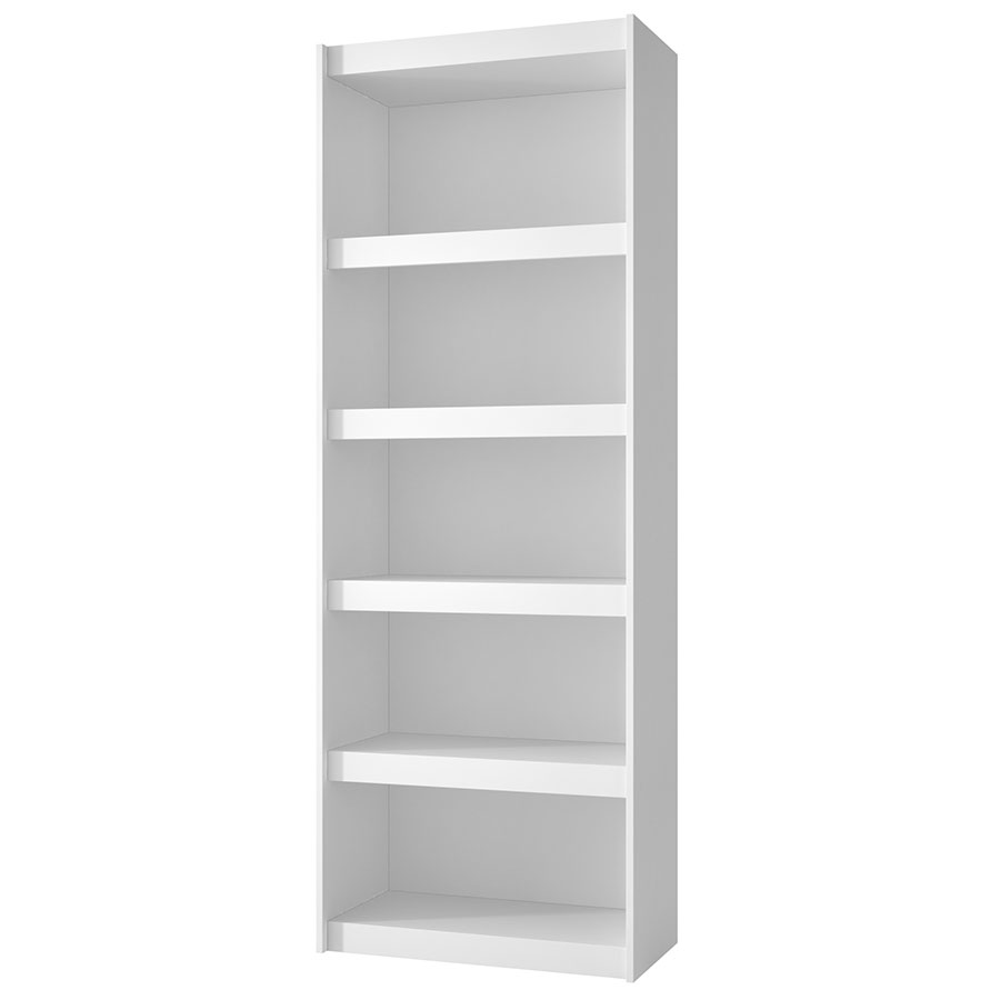 Panama 28 Inch Modern White Book Shelf