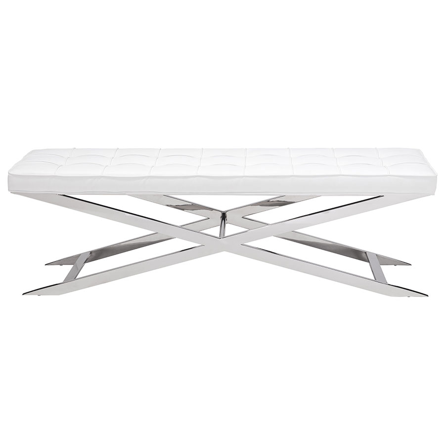 Panos White Contemporary Bench