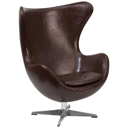 Paradigm Lounge Chair in Brown Leathersoft