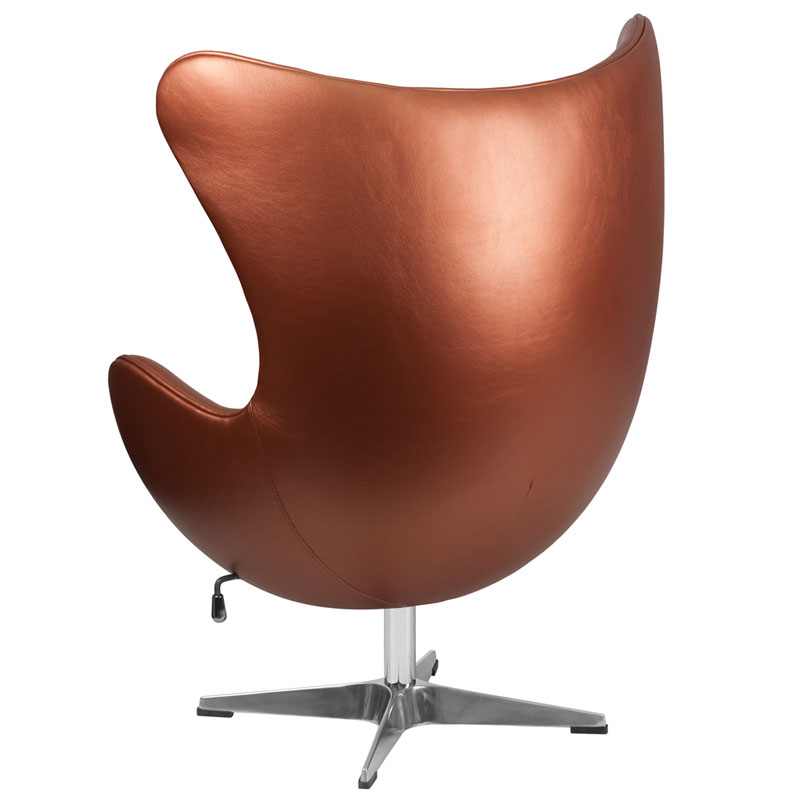 Paradigm Modern Copper Leathersoft Lounge Chair