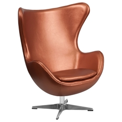 Paradigm Lounge Chair in Copper Leathersoft