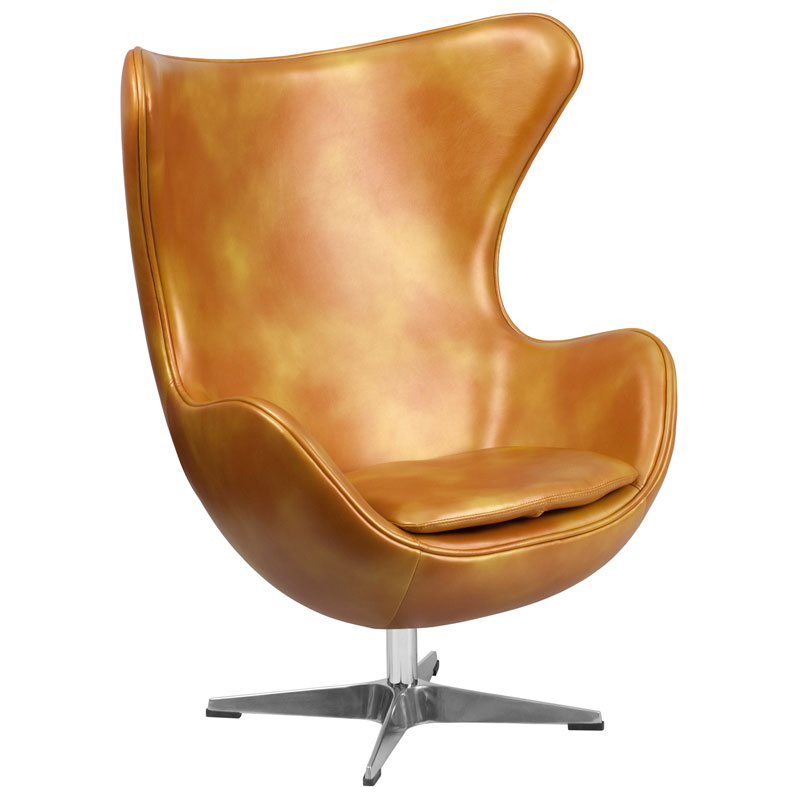 Paradigm Lounge Chair in Gold Leathersoft