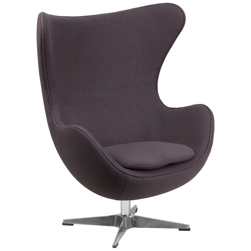 Paradigm Lounge Chair in Gray Wool