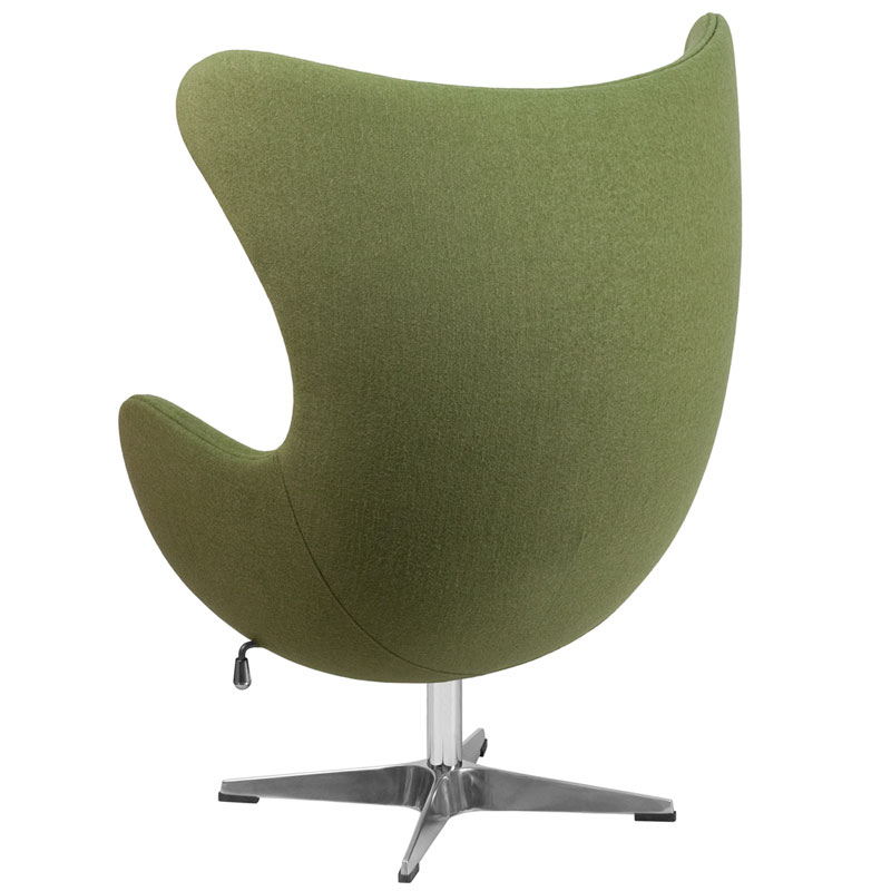 Paradigm Modern Green Wool Lounge Chair