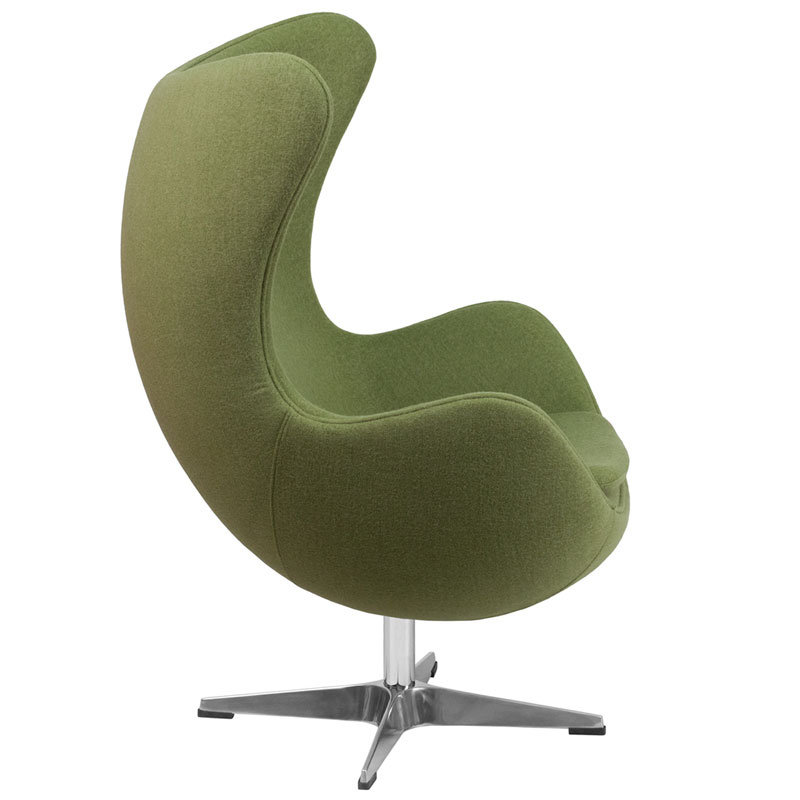 Paradigm Green Wool Lounge Chair