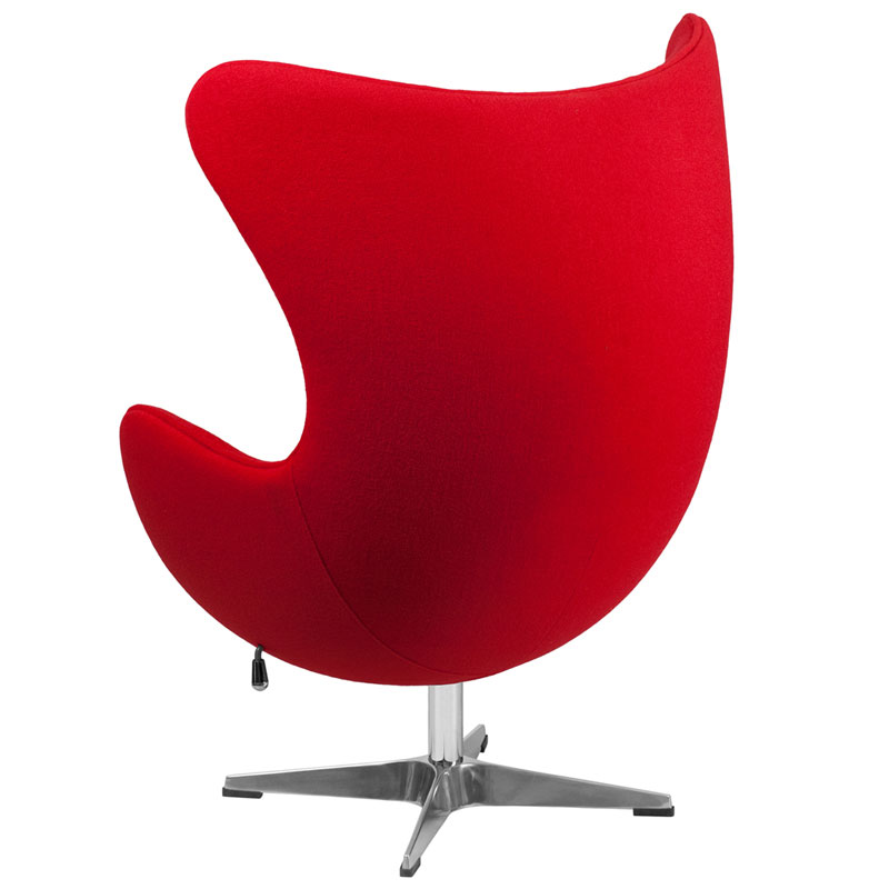 Paradigm Modern Red Wool Lounge Chair