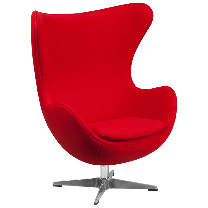 Paradigm Lounge Chair in Red Wool