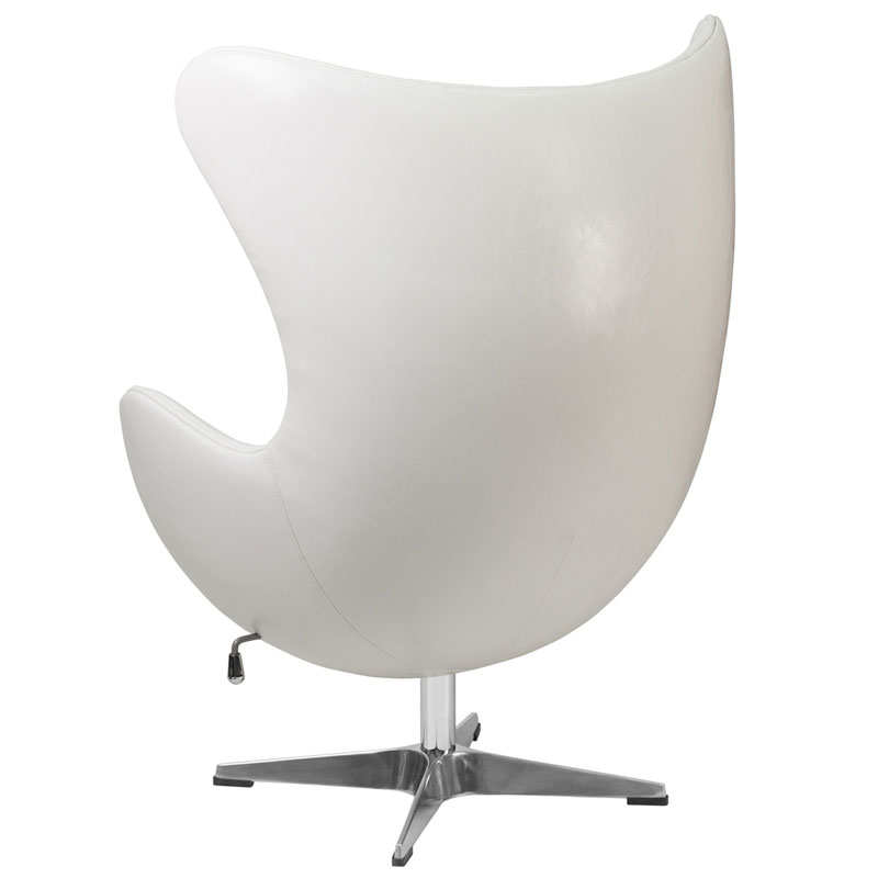Paradigm Modern White Leathersoft Lounge Chair