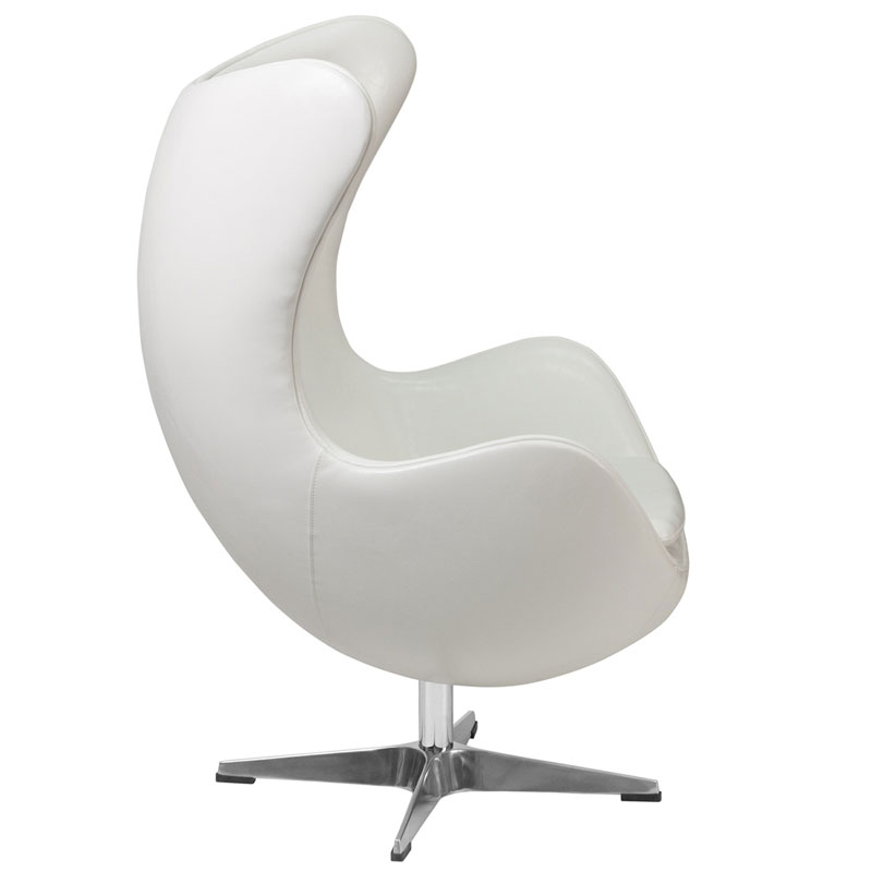 Paradigm White Leather Lounge Chair
