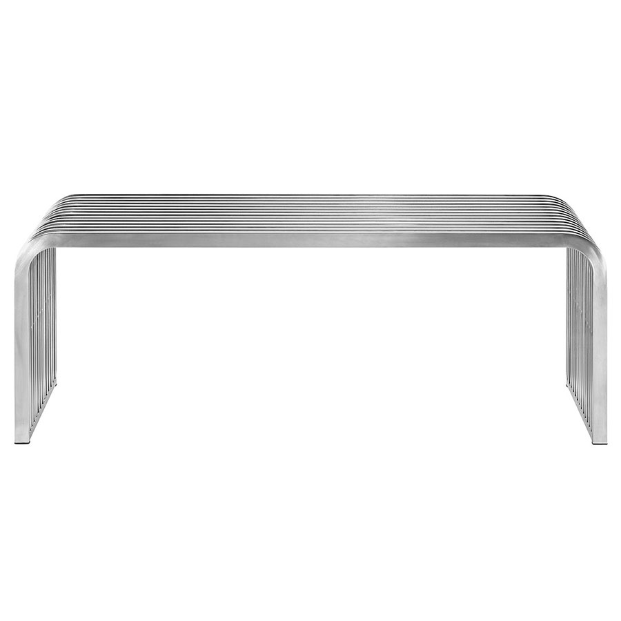 Parliament Modern Stainless Steel Bench - Front View