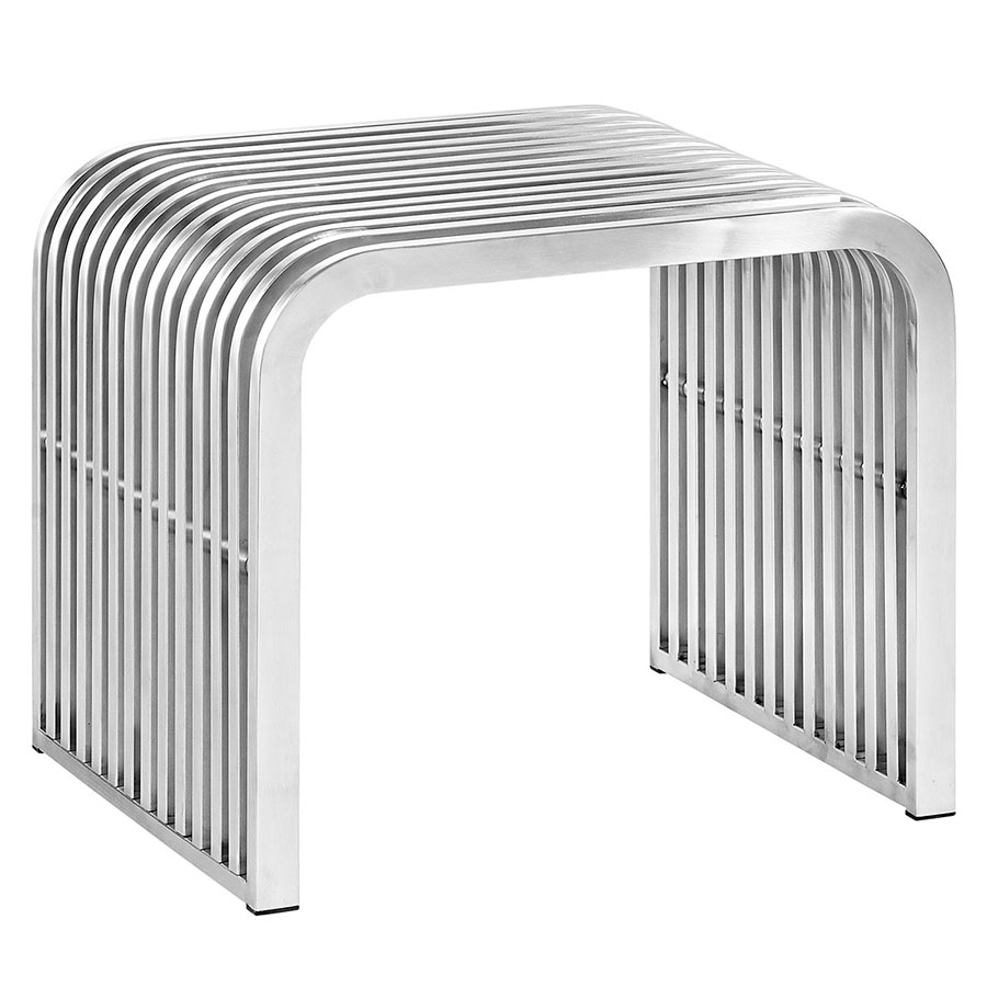 Parliament Modern Short Stainless Steel Bench