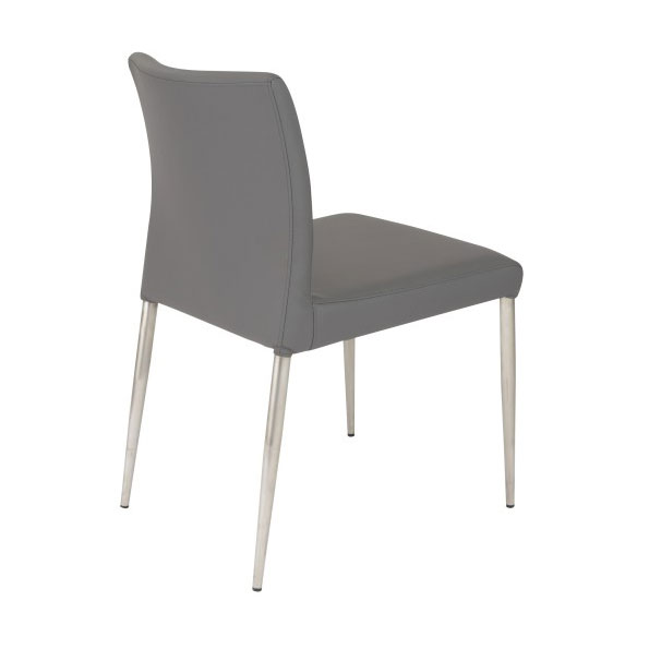 Parker Modern Gray Side Chair - Back View