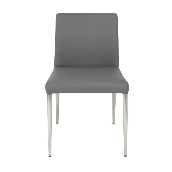 Parnell Modern Gray Side Chair - Front View