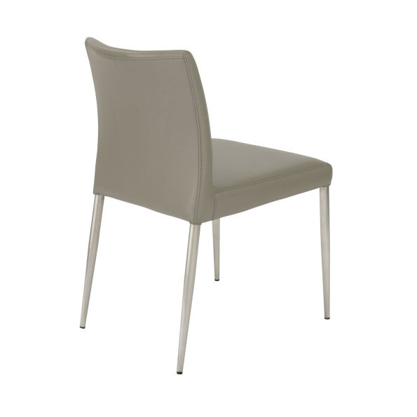 Parker Modern Taupe Side Chair - Back View