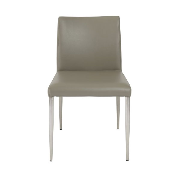 Parnell Modern Taupe Side Chair - Front View