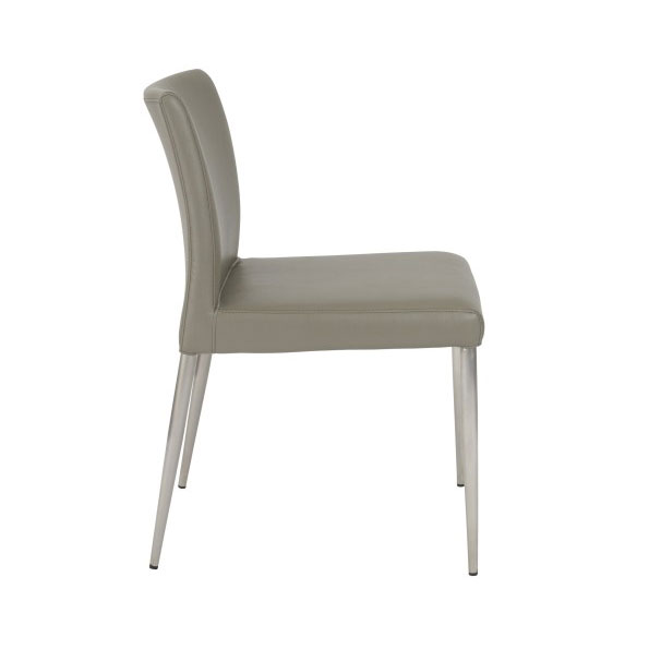 Parker Modern Taupe Side Chair - Side View