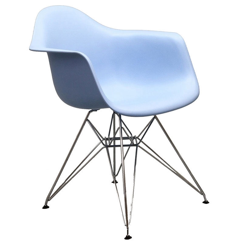 Pasadena Blue Modern Arm Chair