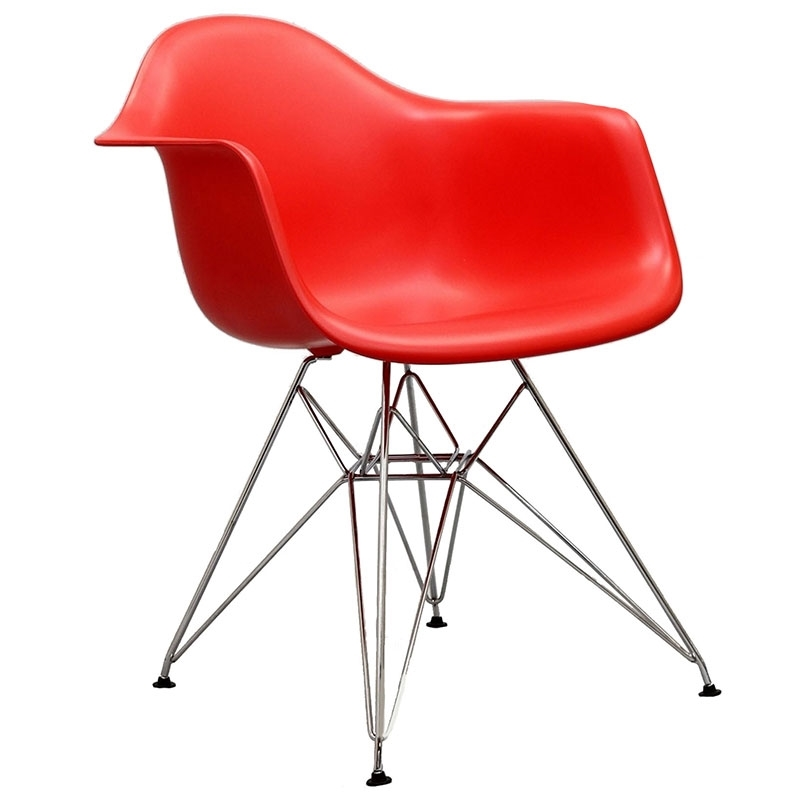 Pasadena Red Contemporary Arm Chair