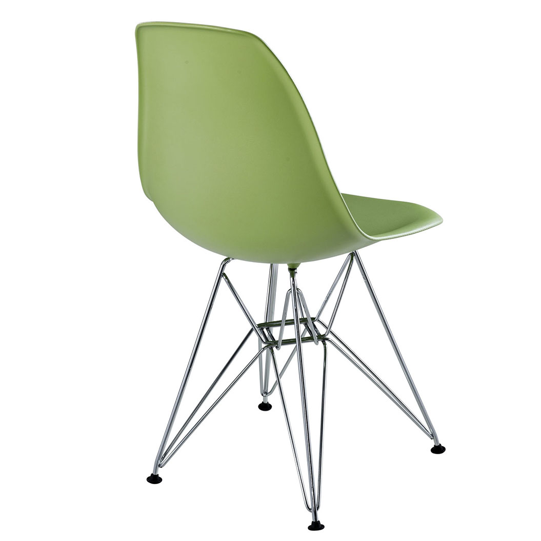 Pasadena Green ABS Plastic Modern Side Chair
