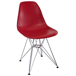 Pasadena Red Modern Side Chair