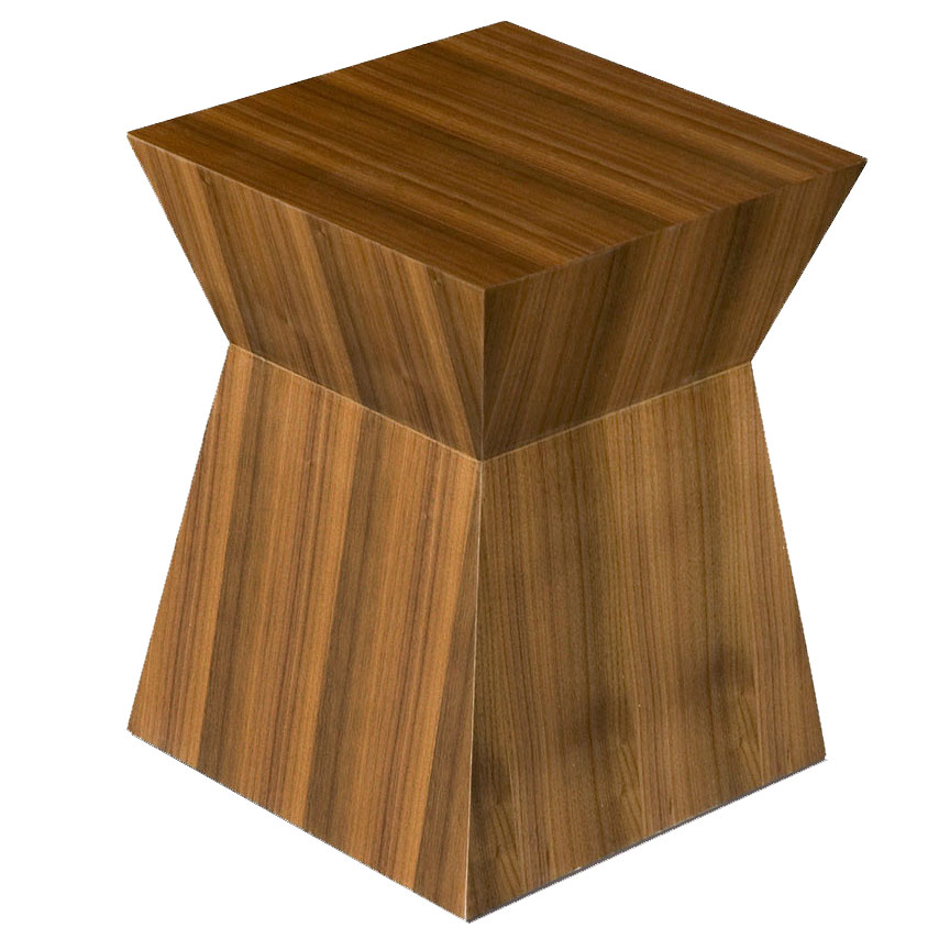 Pawn Contemporary End Table in Walnut by Gus Modern