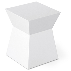 Pawn White Contemporary End Table by Gus Modern