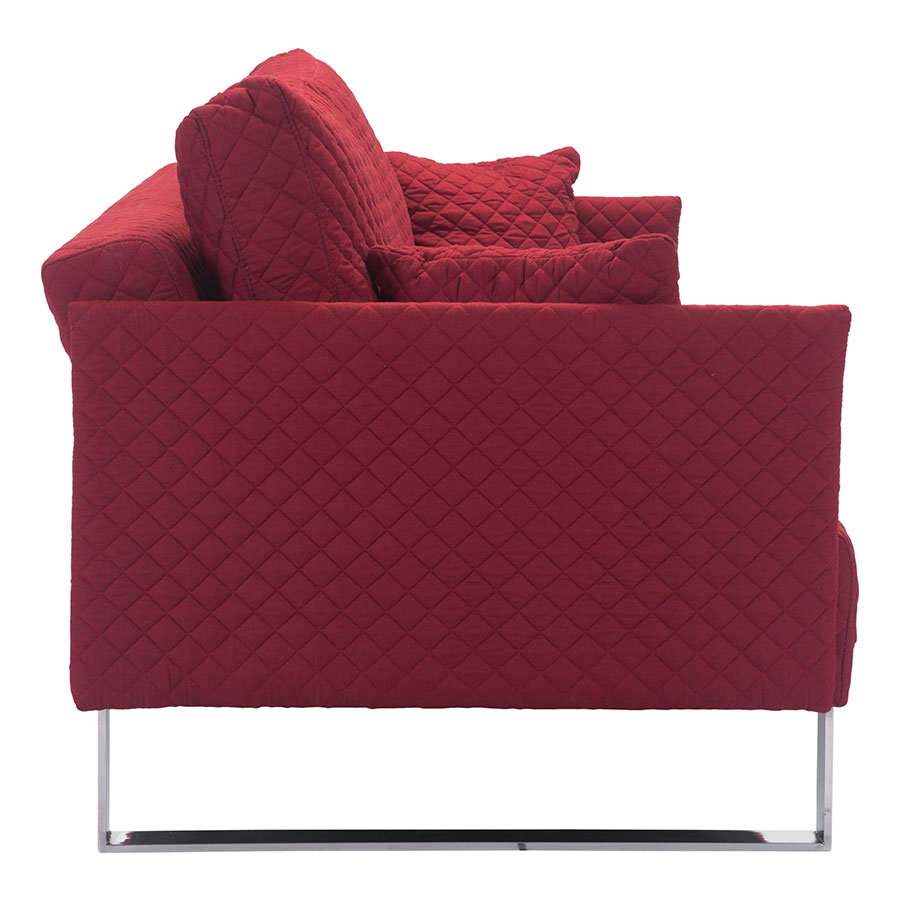 Paxton Red Fabric Modern Sleeper