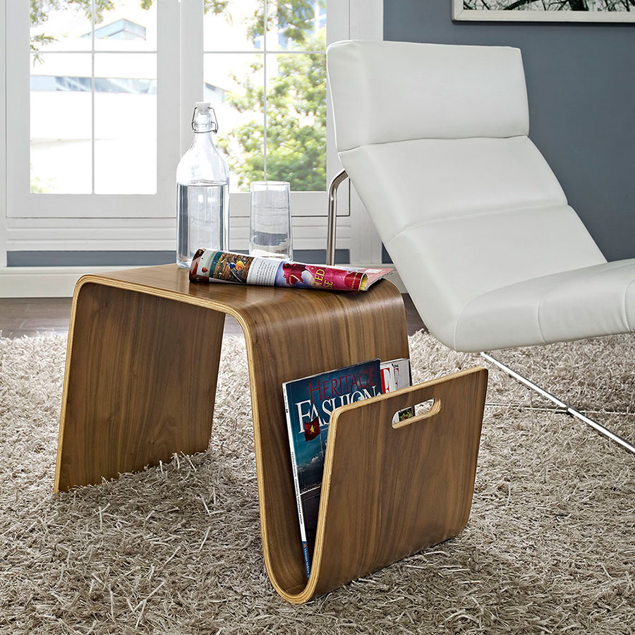 Pemberton Modern Small Coffee Table + Magazine Rack