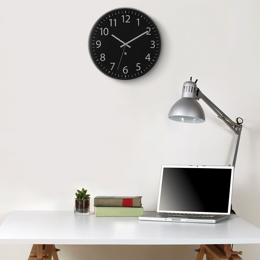 Perftime Black Contemporary Mesh Wall Clock