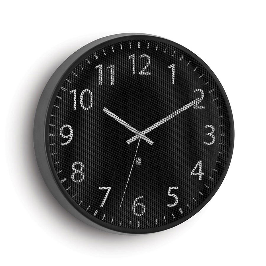 Perftime Modern Black Wall Clock