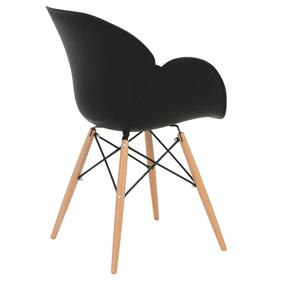 Perry Modern Black Arm Chair - Back View