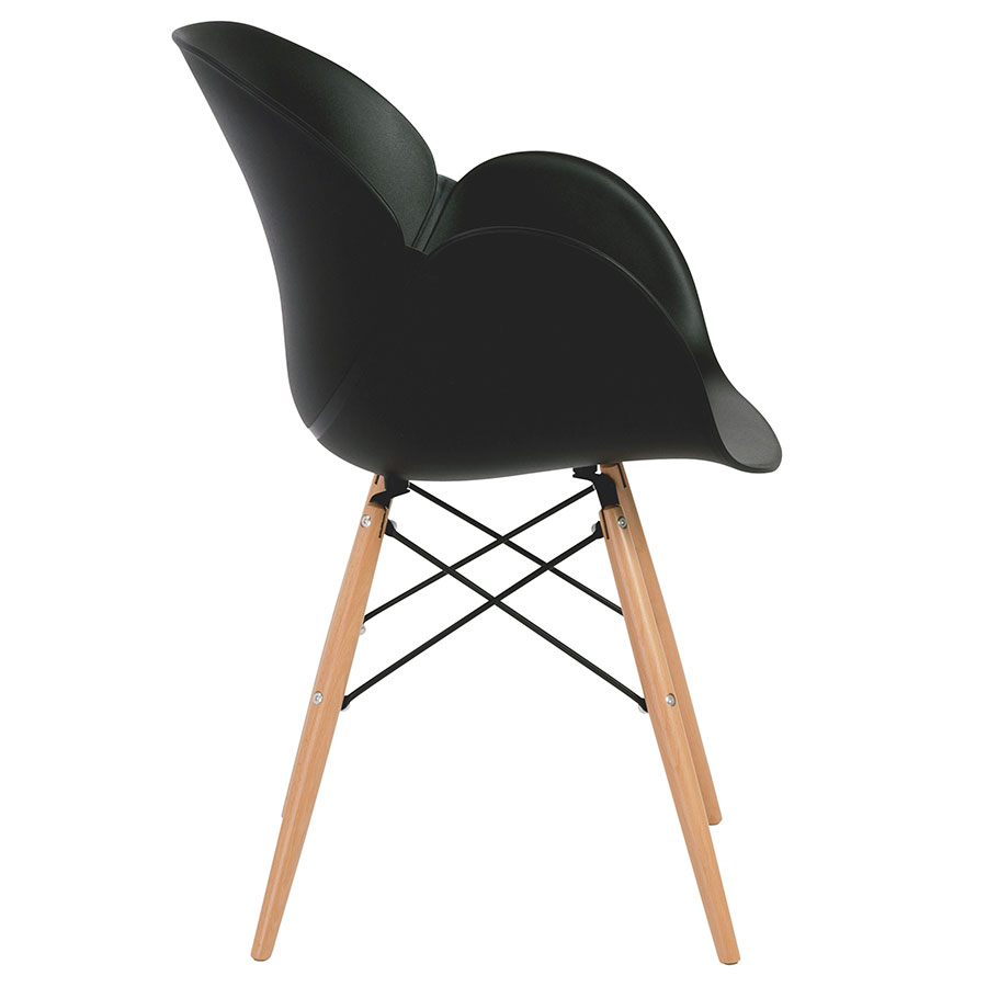 Perry Modern Black Arm Chair - Side View