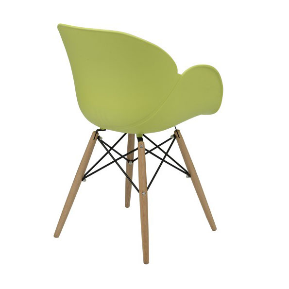 Perry Modern Green Arm Chair - Back View