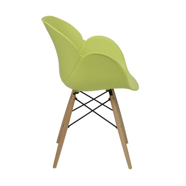 Perry Modern Green Arm Chair - Side View