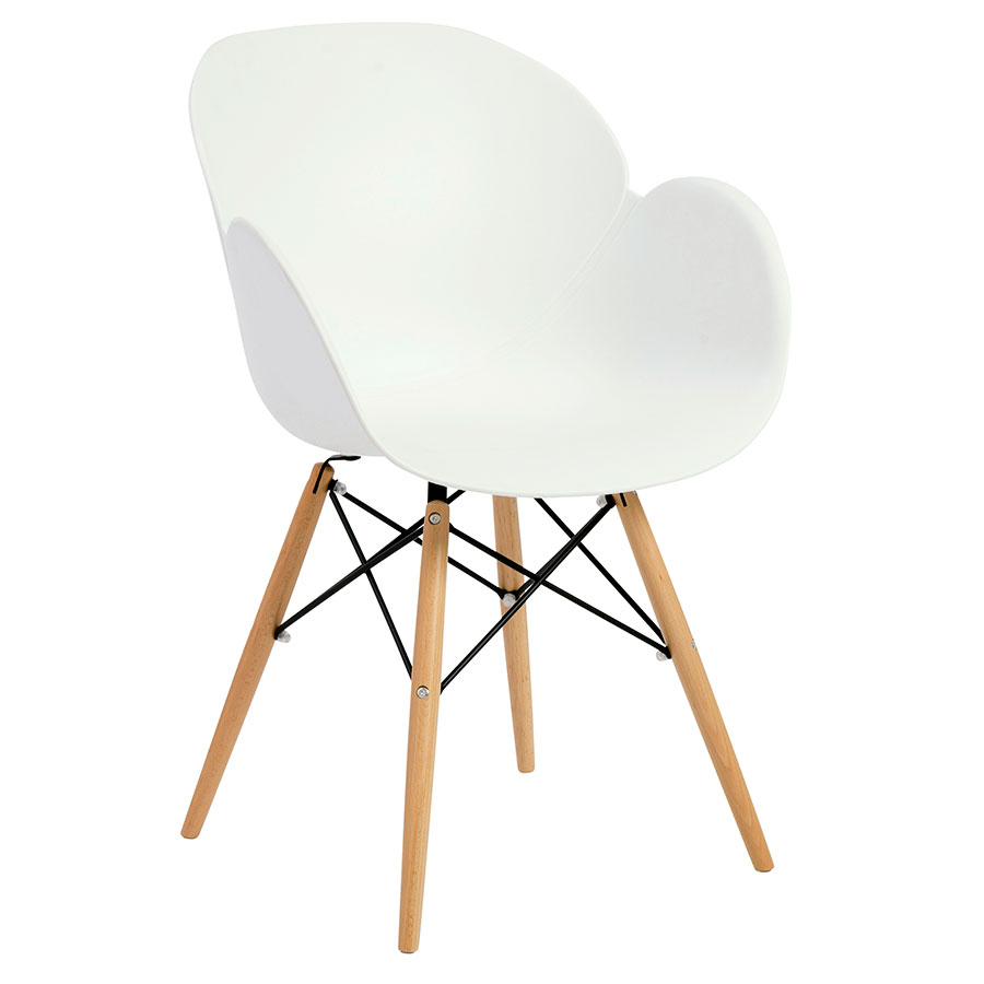 Perry Modern White Arm Chair