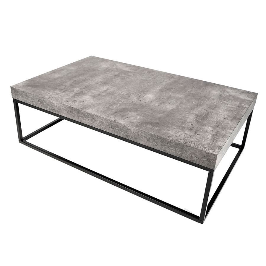 Petra Rectangular Contemporary Coffee Table Up