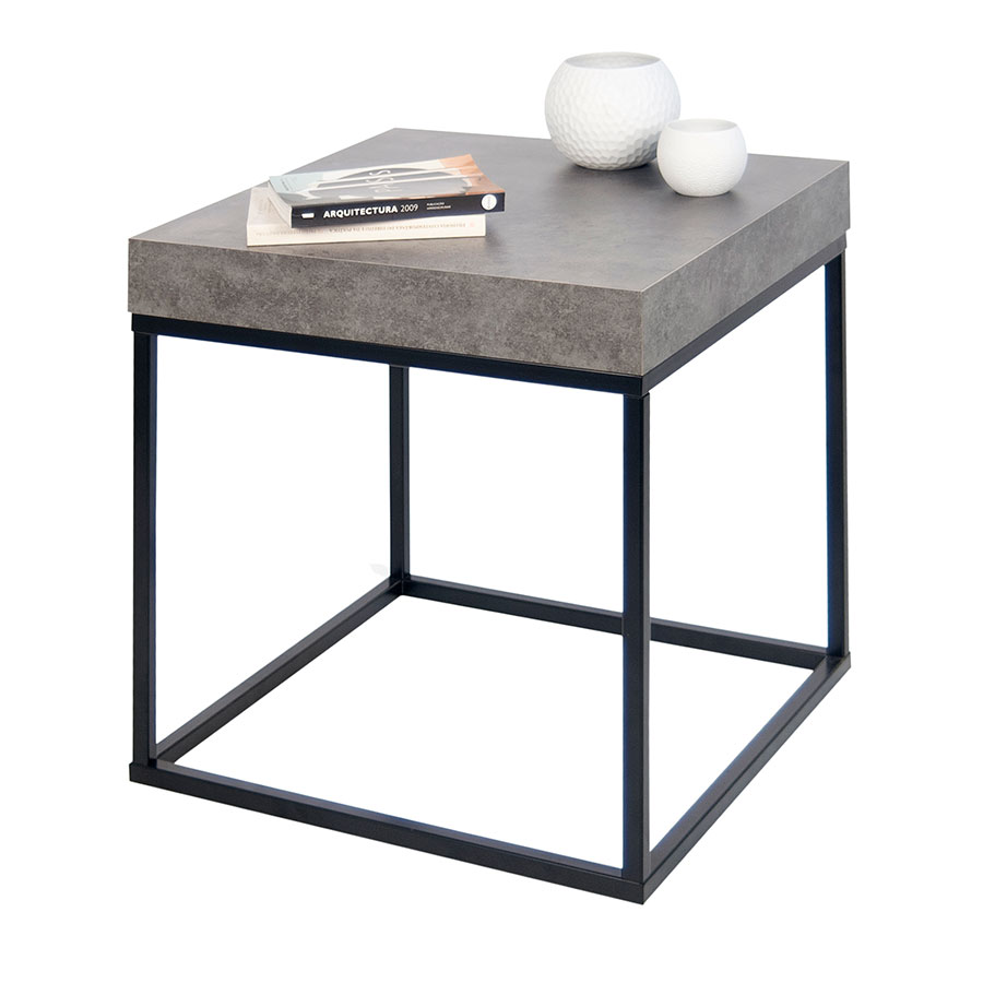 Petra Contemporary End Table Dressed