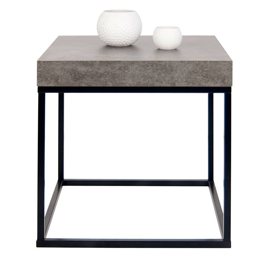 Petra Contemporary End Table Front Dressed