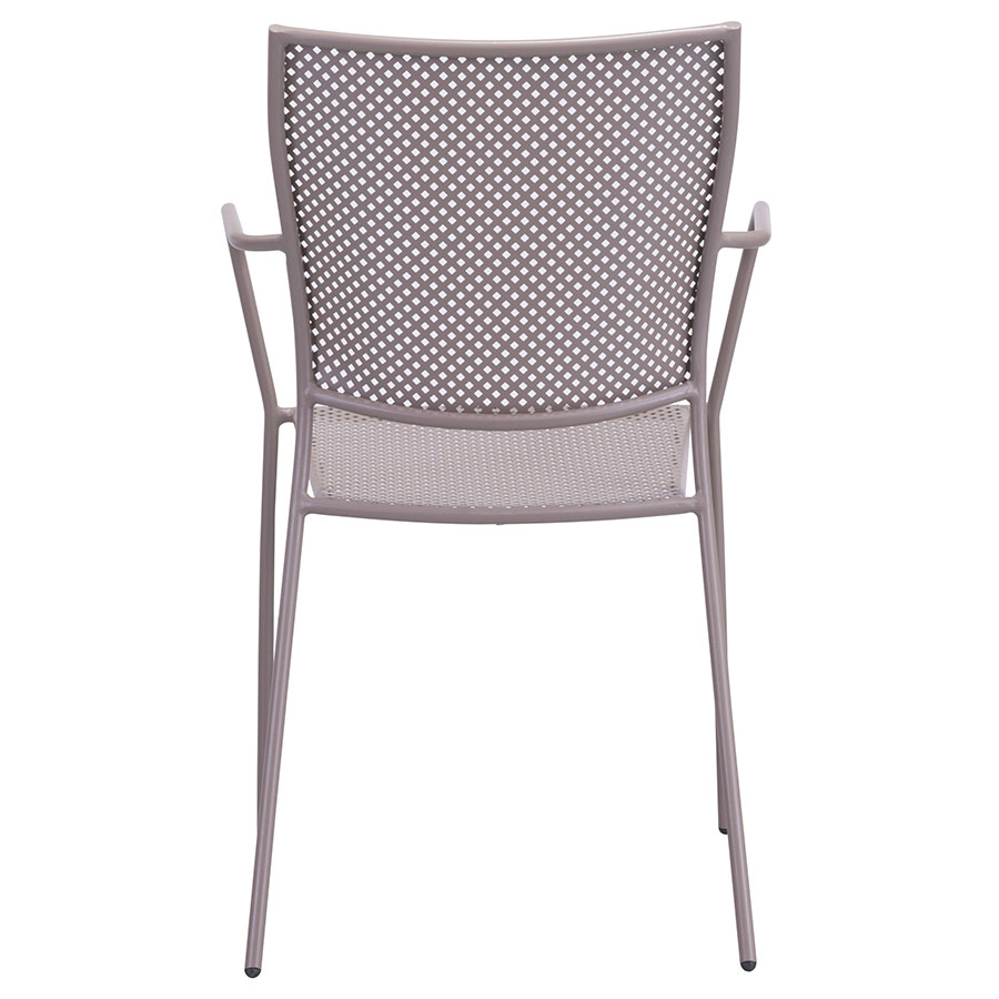Phoebe Taupe Metal Contemporary Outdoor Dining Chair