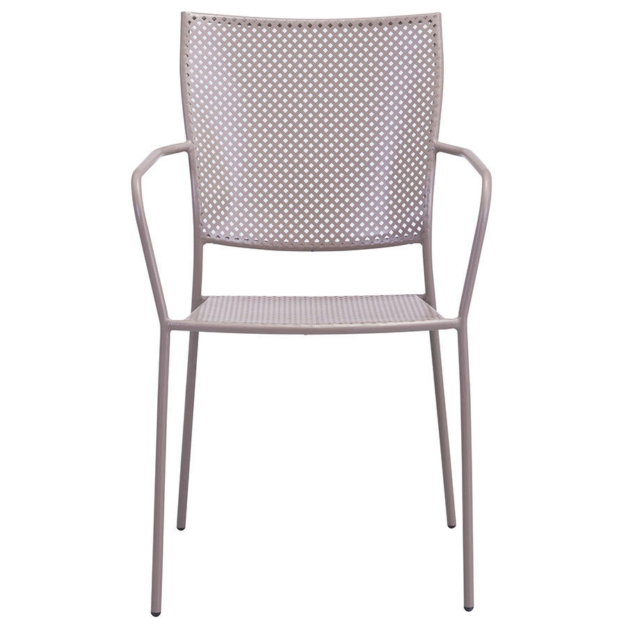 Phoebe Taupe Contemporary Outdoor Dining Chair