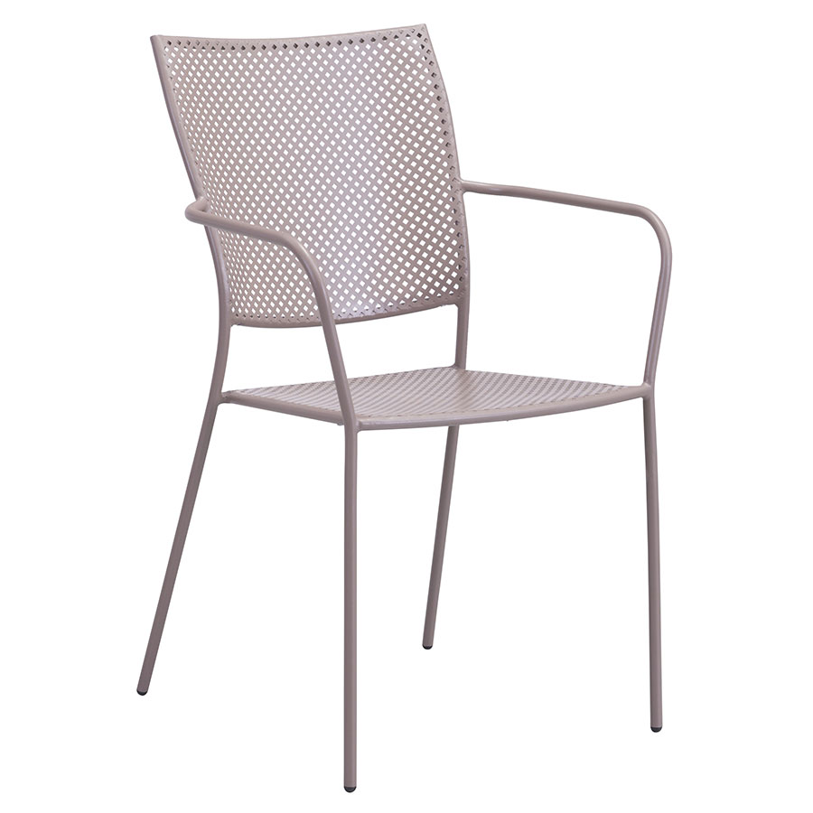 Phoebe Taupe Modern Outdoor Dining Chair