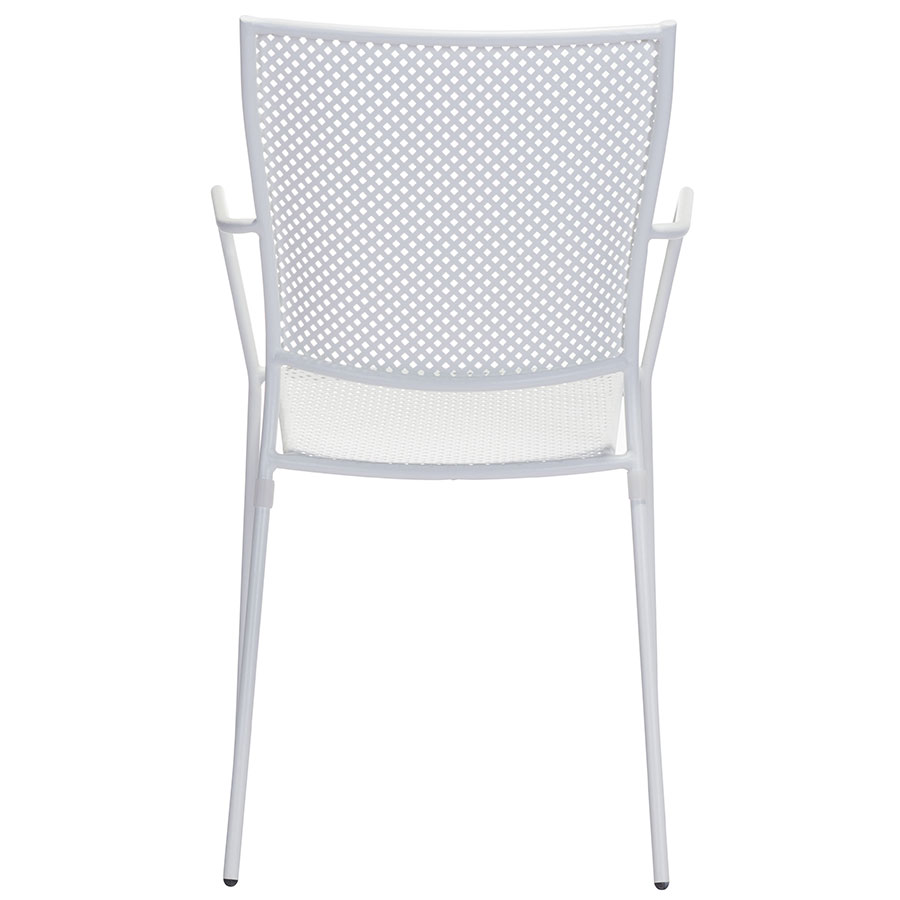 Phoebe White Metal Modern Outdoor Dining Chair